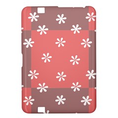 Seed Life Seamless Remix Flower Floral Red White Kindle Fire HD 8.9