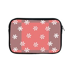 Seed Life Seamless Remix Flower Floral Red White Apple iPad Mini Zipper Cases