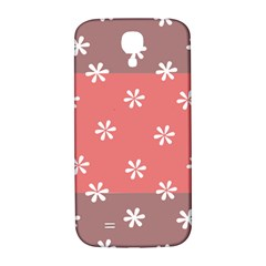 Seed Life Seamless Remix Flower Floral Red White Samsung Galaxy S4 I9500/I9505  Hardshell Back Case