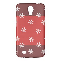 Seed Life Seamless Remix Flower Floral Red White Samsung Galaxy Mega 6.3  I9200 Hardshell Case