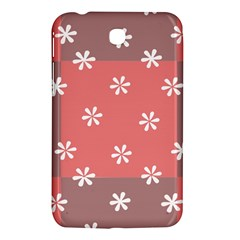 Seed Life Seamless Remix Flower Floral Red White Samsung Galaxy Tab 3 (7 ) P3200 Hardshell Case