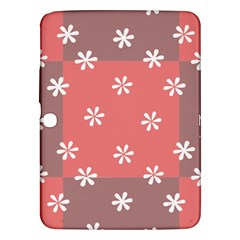 Seed Life Seamless Remix Flower Floral Red White Samsung Galaxy Tab 3 (10.1 ) P5200 Hardshell Case
