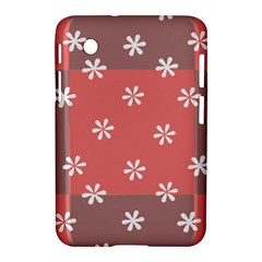 Seed Life Seamless Remix Flower Floral Red White Samsung Galaxy Tab 2 (7 ) P3100 Hardshell Case