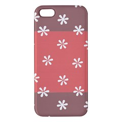 Seed Life Seamless Remix Flower Floral Red White iPhone 5S/ SE Premium Hardshell Case