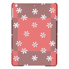 Seed Life Seamless Remix Flower Floral Red White iPad Air Hardshell Cases