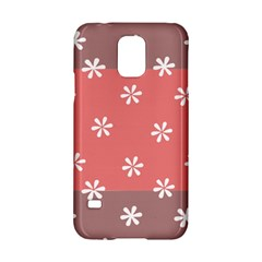 Seed Life Seamless Remix Flower Floral Red White Samsung Galaxy S5 Hardshell Case