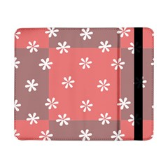 Seed Life Seamless Remix Flower Floral Red White Samsung Galaxy Tab Pro 8.4  Flip Case