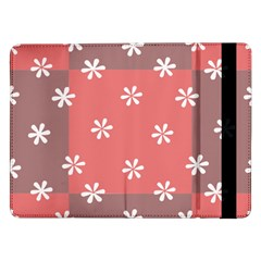 Seed Life Seamless Remix Flower Floral Red White Samsung Galaxy Tab Pro 12.2  Flip Case
