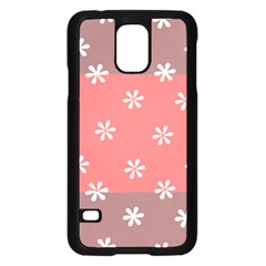 Seed Life Seamless Remix Flower Floral Red White Samsung Galaxy S5 Case (Black)