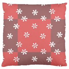 Seed Life Seamless Remix Flower Floral Red White Standard Flano Cushion Case (Two Sides)