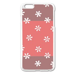 Seed Life Seamless Remix Flower Floral Red White Apple iPhone 6 Plus/6S Plus Enamel White Case