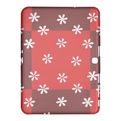 Seed Life Seamless Remix Flower Floral Red White Samsung Galaxy Tab 4 (10.1 ) Hardshell Case