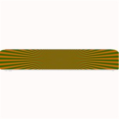 Stripy Starburst Effect Light Orange Green Line Small Bar Mats