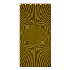 Stripy Starburst Effect Light Orange Green Line Shower Curtain 36  x 72  (Stall)