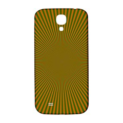 Stripy Starburst Effect Light Orange Green Line Samsung Galaxy S4 I9500/I9505  Hardshell Back Case