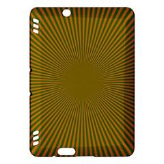 Stripy Starburst Effect Light Orange Green Line Kindle Fire HDX Hardshell Case