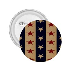 Stars Stripes Grey Blue 2.25  Buttons