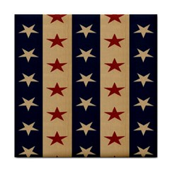 Stars Stripes Grey Blue Face Towel