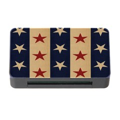 Stars Stripes Grey Blue Memory Card Reader with CF