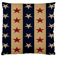Stars Stripes Grey Blue Large Cushion Case (Two Sides)