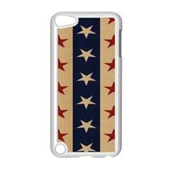 Stars Stripes Grey Blue Apple iPod Touch 5 Case (White)