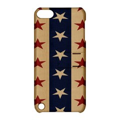 Stars Stripes Grey Blue Apple iPod Touch 5 Hardshell Case with Stand