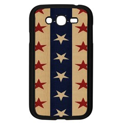 Stars Stripes Grey Blue Samsung Galaxy Grand DUOS I9082 Case (Black)