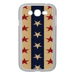 Stars Stripes Grey Blue Samsung Galaxy Grand DUOS I9082 Case (White)
