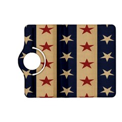 Stars Stripes Grey Blue Kindle Fire HD (2013) Flip 360 Case
