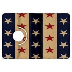 Stars Stripes Grey Blue Kindle Fire HDX Flip 360 Case