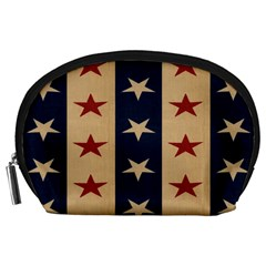 Stars Stripes Grey Blue Accessory Pouches (Large)