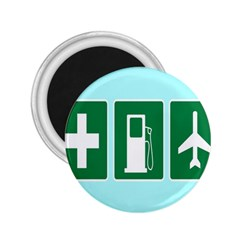 Traffic Signs Hospitals, Airplanes, Petrol Stations 2.25  Magnets