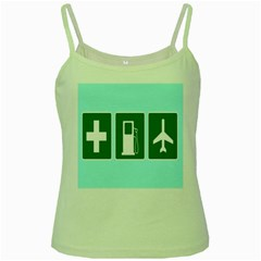 Traffic Signs Hospitals, Airplanes, Petrol Stations Green Spaghetti Tank