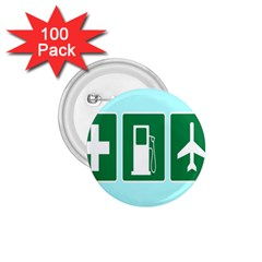 Traffic Signs Hospitals, Airplanes, Petrol Stations 1.75  Buttons (100 pack)