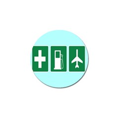 Traffic Signs Hospitals, Airplanes, Petrol Stations Golf Ball Marker (10 pack)