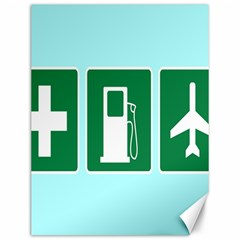 Traffic Signs Hospitals, Airplanes, Petrol Stations Canvas 12  x 16