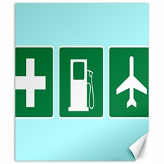 Traffic Signs Hospitals, Airplanes, Petrol Stations Canvas 20  x 24