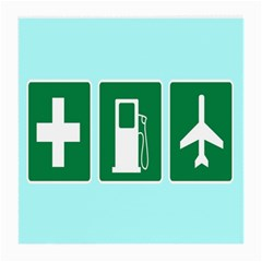 Traffic Signs Hospitals, Airplanes, Petrol Stations Medium Glasses Cloth