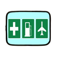 Traffic Signs Hospitals, Airplanes, Petrol Stations Netbook Case (Small)