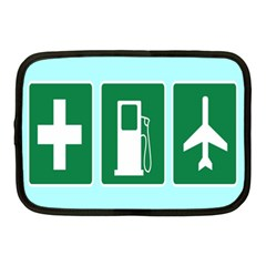 Traffic Signs Hospitals, Airplanes, Petrol Stations Netbook Case (Medium)