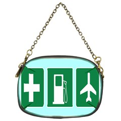 Traffic Signs Hospitals, Airplanes, Petrol Stations Chain Purses (One Side)