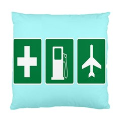 Traffic Signs Hospitals, Airplanes, Petrol Stations Standard Cushion Case (Two Sides)