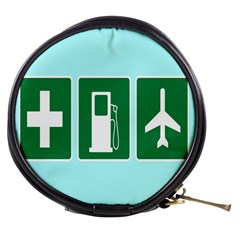 Traffic Signs Hospitals, Airplanes, Petrol Stations Mini Makeup Bags