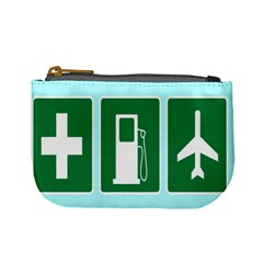 Traffic Signs Hospitals, Airplanes, Petrol Stations Mini Coin Purses