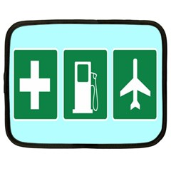Traffic Signs Hospitals, Airplanes, Petrol Stations Netbook Case (XXL)