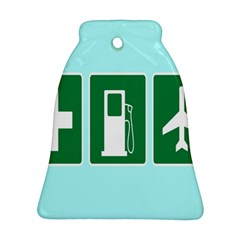 Traffic Signs Hospitals, Airplanes, Petrol Stations Bell Ornament (Two Sides)
