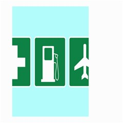 Traffic Signs Hospitals, Airplanes, Petrol Stations Small Garden Flag (Two Sides)