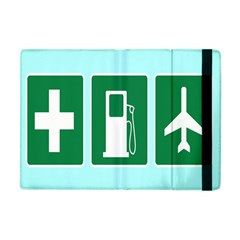 Traffic Signs Hospitals, Airplanes, Petrol Stations Apple iPad Mini Flip Case