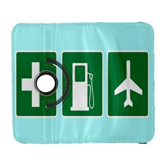 Traffic Signs Hospitals, Airplanes, Petrol Stations Galaxy S3 (Flip/Folio)