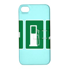 Traffic Signs Hospitals, Airplanes, Petrol Stations Apple iPhone 4/4S Hardshell Case with Stand